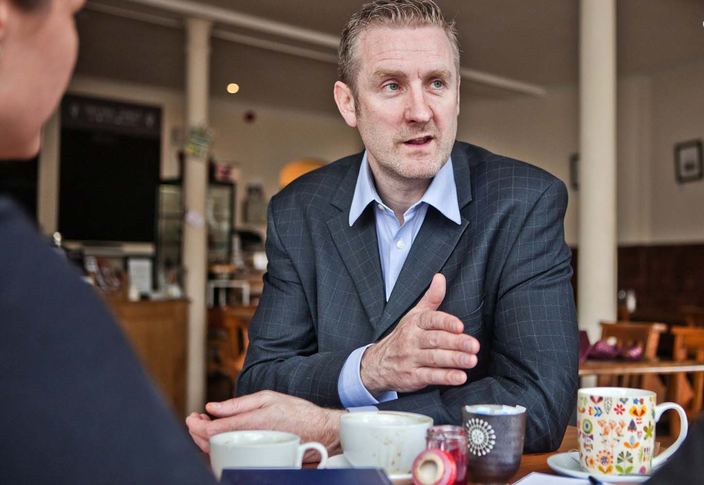 Andrew Scott from Victus consulting with clients